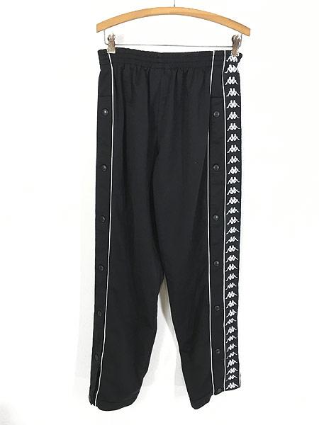 [2] 古着 90s Kappa サイド テープ ボタン ジャージ パンツ トラック パンツ M 古着