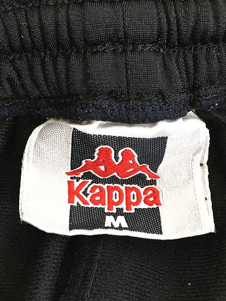 [6] 古着 90s Kappa サイド テープ ボタン ジャージ パンツ トラック パンツ M 古着