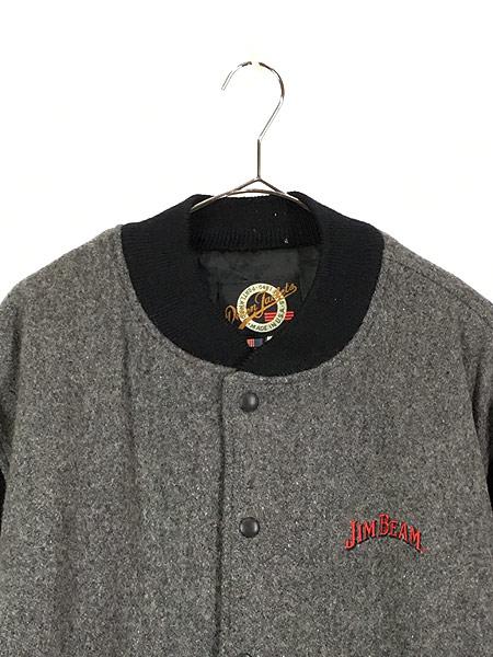 [2] 古着 90s USA製 JIM BEAM ジム ビーム ウィスキー ウール ジャケット スタジャン XL 古着