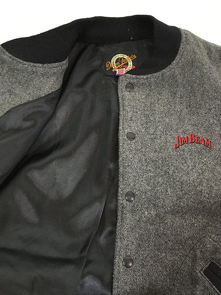 [5] 古着 90s USA製 JIM BEAM ジム ビーム ウィスキー ウール ジャケット スタジャン XL 古着