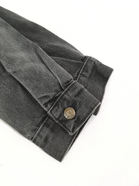 [4] 古着 90s USA製 GUESS ゲス ブラック デニム ジャケット Gジャン L 古着