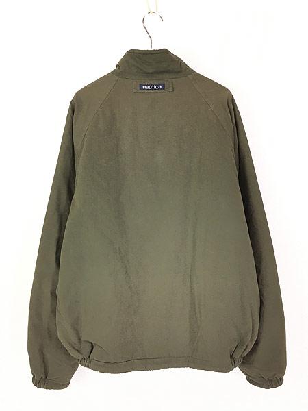 [4] 古着 90s Nautica もこもこ チェック フリース リバーシブル ジャケット XL 古着