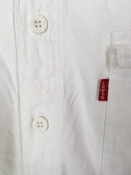 [3] 古着 90s Levi's 「DIAMOND LABEL」 ホワイト コットンツイル シャツ L 古着