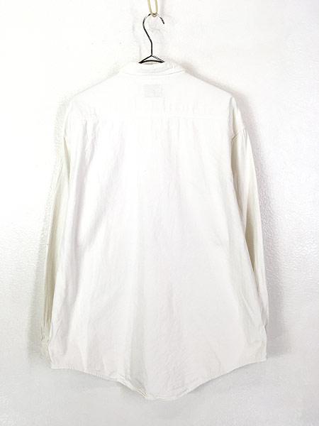 [4] 古着 90s Levi's 「DIAMOND LABEL」 ホワイト コットンツイル シャツ L 古着