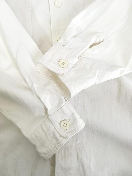 [5] 古着 90s Levi's 「DIAMOND LABEL」 ホワイト コットンツイル シャツ L 古着