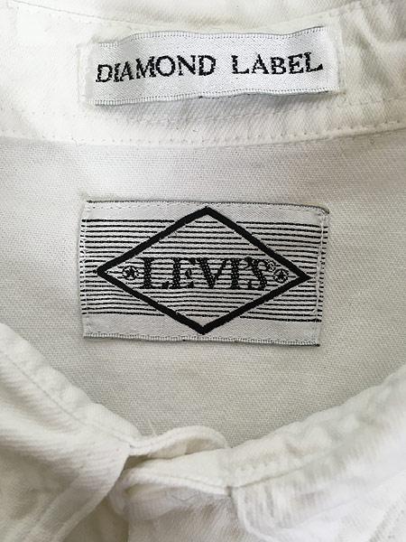 [6] 古着 90s Levi's 「DIAMOND LABEL」 ホワイト コットンツイル シャツ L 古着