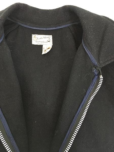 [6] 古着 60s Brooks Robinson ネーム 刺しゅう 襟付き メルトン ウール スタジャン ロンスタ 48 古着