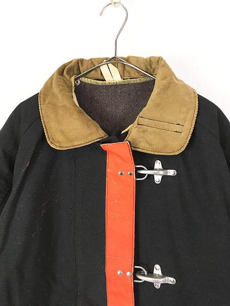 [2] 古着 80s USA製 FYREPEL リフレクター デザイン アラミド ファイヤーマン コート ライナー完備!! M 古着