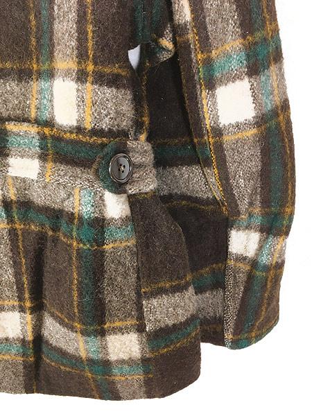 [6] 古着 50s Hiawatha Pコート タイプ チェック ウール スポーツ ジャケット コート 38位 古着