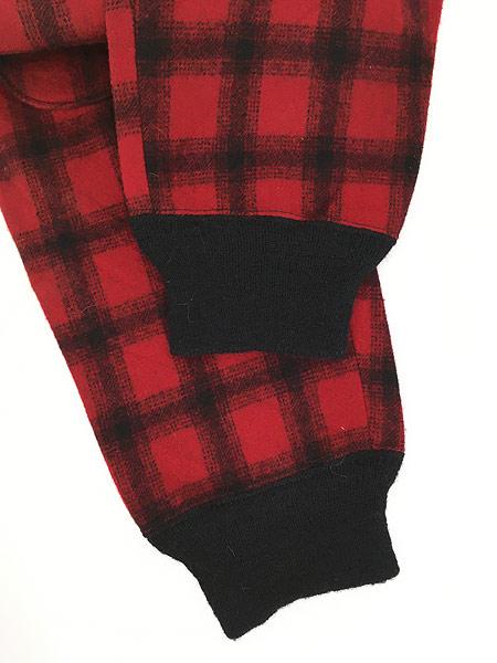 [5] 古着 60s WoolRich バッファロー チェック 防寒 ヘビー ウール Wニー ハンティング パンツ W32 L31 古着