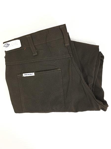 [1] 「Deadstock」 古着 70s USA製 Dickies コットンツイル ワーク パンツ 貴重 ブーツカット!! W33 L28 古着