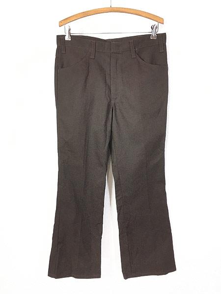 [2] 「Deadstock」 古着 70s USA製 Dickies コットンツイル ワーク パンツ 貴重 ブーツカット!! W33 L28 古着