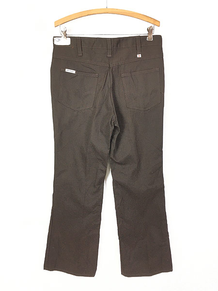 [4] 「Deadstock」 古着 70s USA製 Dickies コットンツイル ワーク パンツ 貴重 ブーツカット!! W33 L28 古着