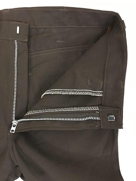 [6] 「Deadstock」 古着 70s USA製 Dickies コットンツイル ワーク パンツ 貴重 ブーツカット!! W33 L28 古着