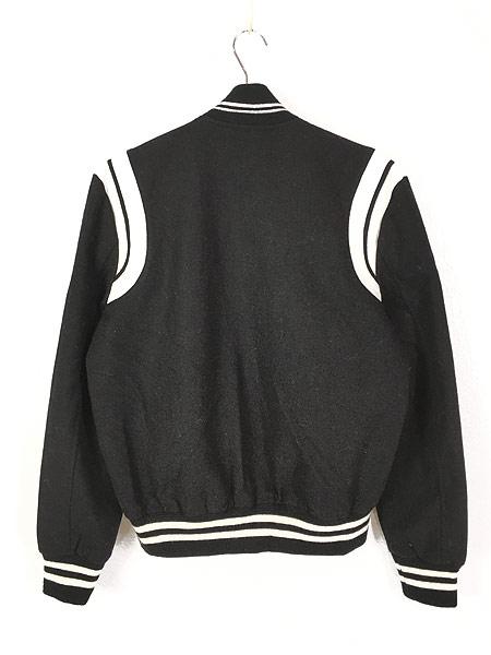 [3] 古着 イタリア製 SAINT LAURENT PARIS 2013AW ラム レザー コンビ メルトン ウール テディ ジャケット 48 ブランド 古着