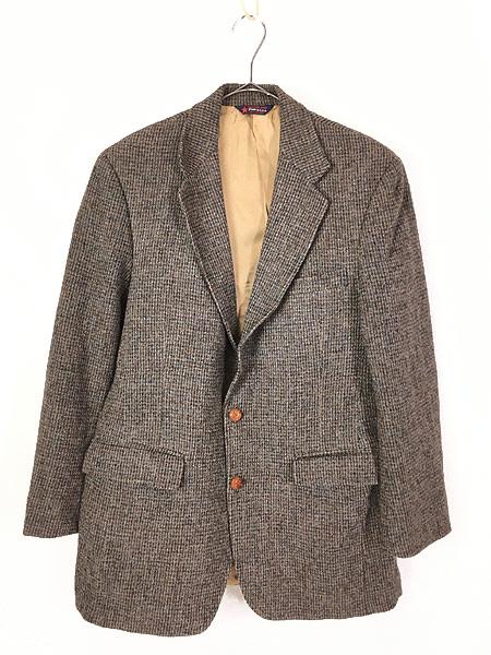 [1] 古着 80s USA製 B.J.Keats × Harris Tweed ツイード ウール テーラード ジャケット 40位 古着