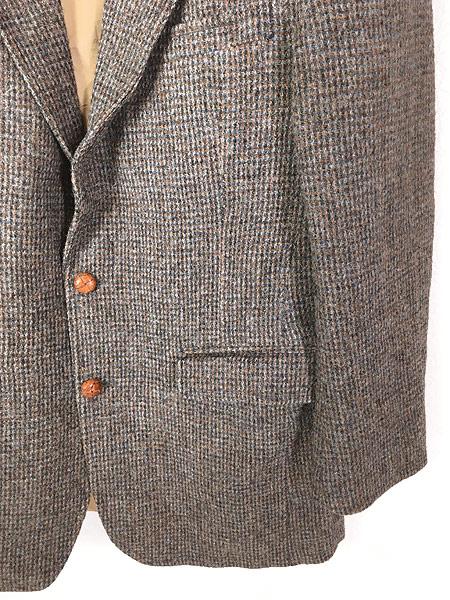 [3] 古着 80s USA製 B.J.Keats × Harris Tweed ツイード ウール テーラード ジャケット 40位 古着