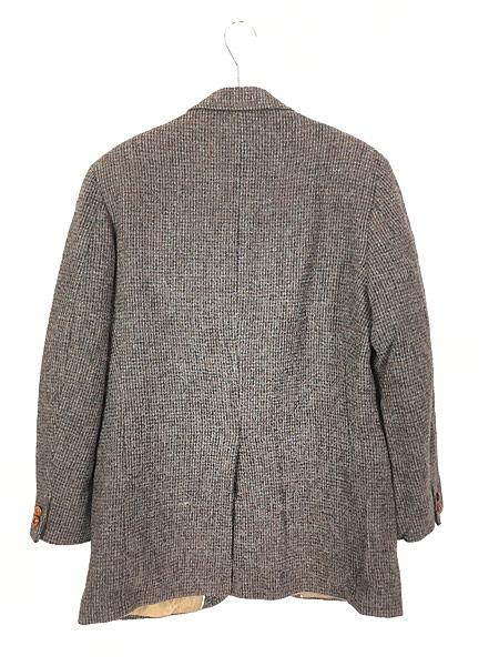 [4] 古着 80s USA製 B.J.Keats × Harris Tweed ツイード ウール テーラード ジャケット 40位 古着