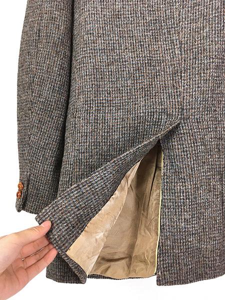 [5] 古着 80s USA製 B.J.Keats × Harris Tweed ツイード ウール テーラード ジャケット 40位 古着