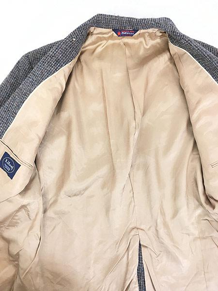 [6] 古着 80s USA製 B.J.Keats × Harris Tweed ツイード ウール テーラード ジャケット 40位 古着