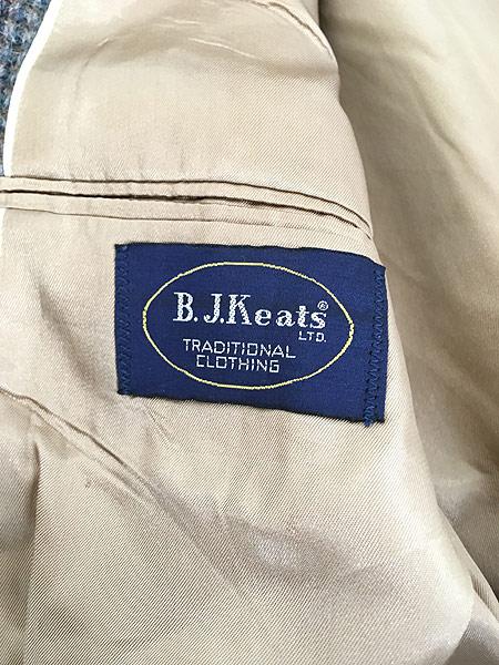 [8] 古着 80s USA製 B.J.Keats × Harris Tweed ツイード ウール テーラード ジャケット 40位 古着