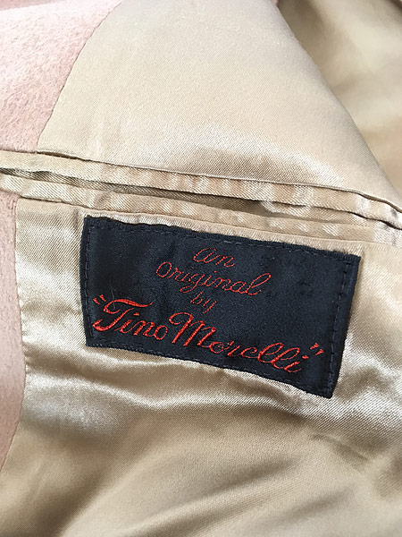 [8] 古着 80s USA製 Tino Morelli フランネル ウール チェスター バルマカーン コート ロング丈 36位 古着