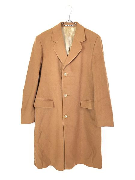 [1] 古着 70s 英国製 豪華 カシミア チェスター バルマカーン コート キャメル 40R 古着