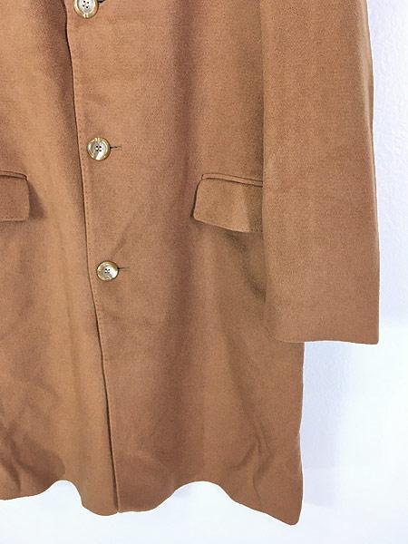 [3] 古着 70s 英国製 豪華 カシミア チェスター バルマカーン コート キャメル 40R 古着