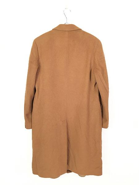 [4] 古着 70s 英国製 豪華 カシミア チェスター バルマカーン コート キャメル 40R 古着