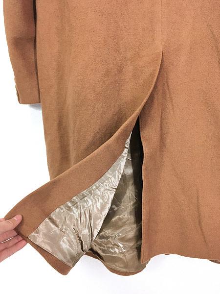 [5] 古着 70s 英国製 豪華 カシミア チェスター バルマカーン コート キャメル 40R 古着