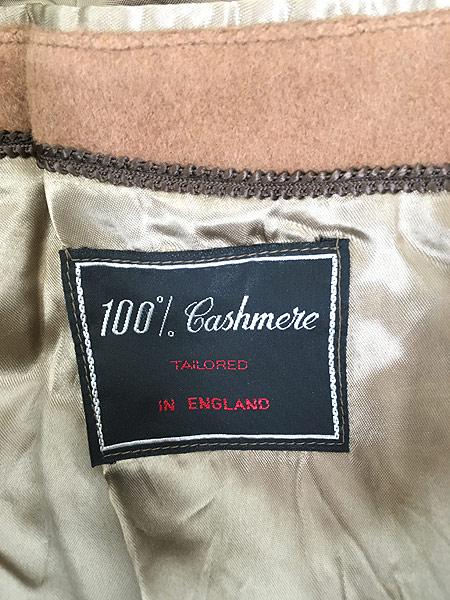 [7] 古着 70s 英国製 豪華 カシミア チェスター バルマカーン コート キャメル 40R 古着