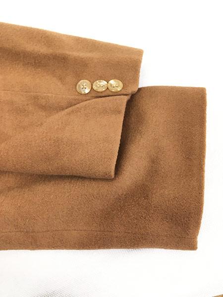 [8] 古着 70s 英国製 豪華 カシミア チェスター バルマカーン コート キャメル 40R 古着