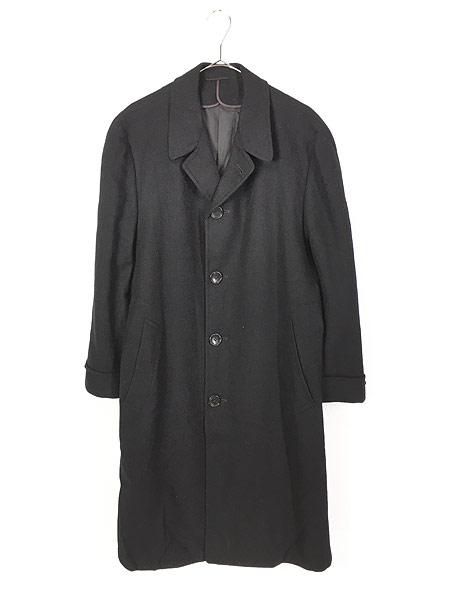 [1] 古着 60s J&F × Strouss Hirshberg's ヘリンボーン織 ウール チェスター バルマカーン コート 40位 美品!! 古着