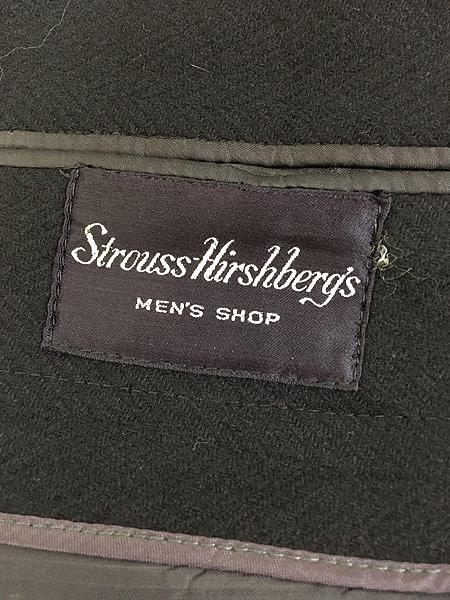 [8] 古着 60s J&F × Strouss Hirshberg's ヘリンボーン織 ウール チェスター バルマカーン コート 40位 美品!! 古着