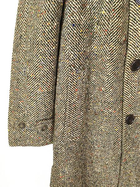 [3] 古着 50s Rook Knit カラフル ネップ ツイード ウール チェスター バルマカーン コート 42位 古着