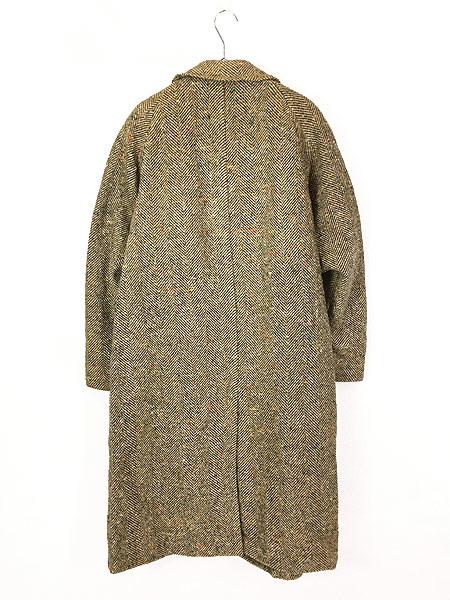 [4] 古着 50s Rook Knit カラフル ネップ ツイード ウール チェスター バルマカーン コート 42位 古着