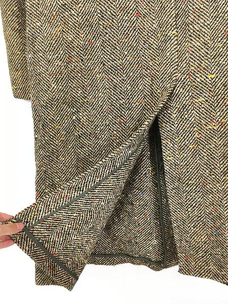 [5] 古着 50s Rook Knit カラフル ネップ ツイード ウール チェスター バルマカーン コート 42位 古着