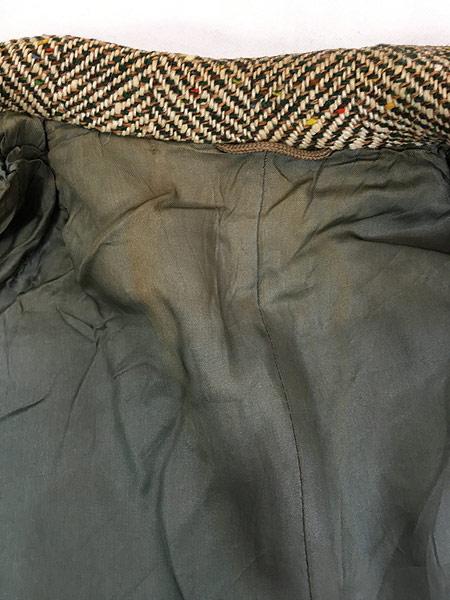 [7] 古着 50s Rook Knit カラフル ネップ ツイード ウール チェスター バルマカーン コート 42位 古着