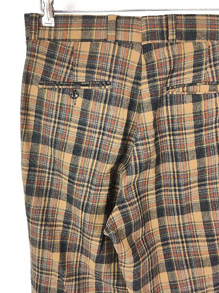 [4] 古着 70s USA製 Pendleton クラシック チェック ウール スラックス パンツ ストレート W32 L30 ブランド 古着