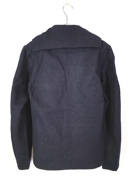 [4] 古着 60s フランス軍 ミリタリー メルトン ウール セーラー シャツ ジャケット M位 美品!! 古着