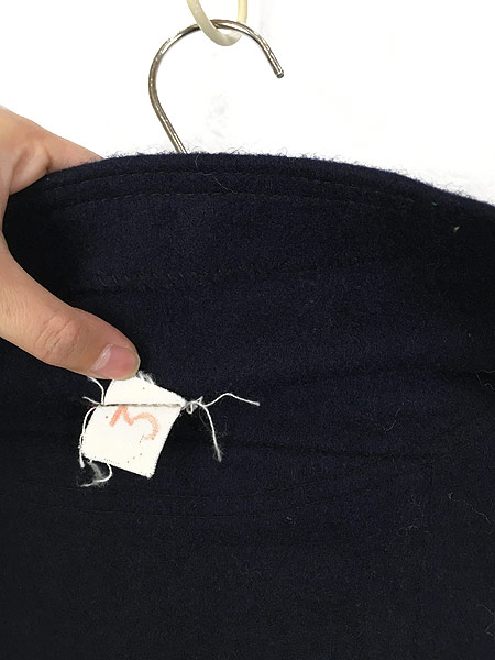 [5] 古着 60s フランス軍 ミリタリー メルトン ウール セーラー シャツ ジャケット M位 美品!! 古着