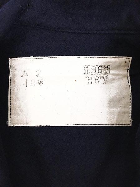 [6] 古着 60s フランス軍 ミリタリー メルトン ウール セーラー シャツ ジャケット M位 美品!! 古着