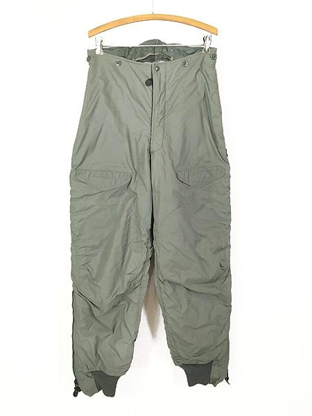 [1] 古着 80s 米軍 USAF F-1B 防寒 ヘビーゾーン フライング オーバー パンツ 30 美品!! 古着