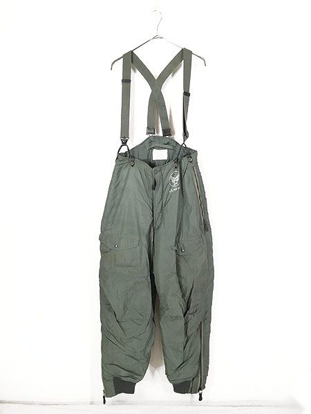[1] 古着 60s 米軍 USAF F-1B 防寒 ヘビーゾーン フライング オーバー パンツ 32 古着