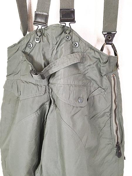 [4] 古着 60s 米軍 USAF F-1B 防寒 ヘビーゾーン フライング オーバー パンツ 32 古着