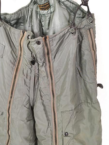 [3] 古着 50s 米軍 USAF A-11D 「6262A」 防寒 ナイロン フライング オーバー パンツ 40 古着