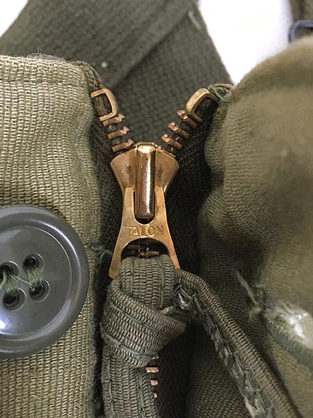 [7] 古着 40s 米軍 USN ステンシル ジャングルクロス N-1 デッキ パンツ オーバーオール M 古着