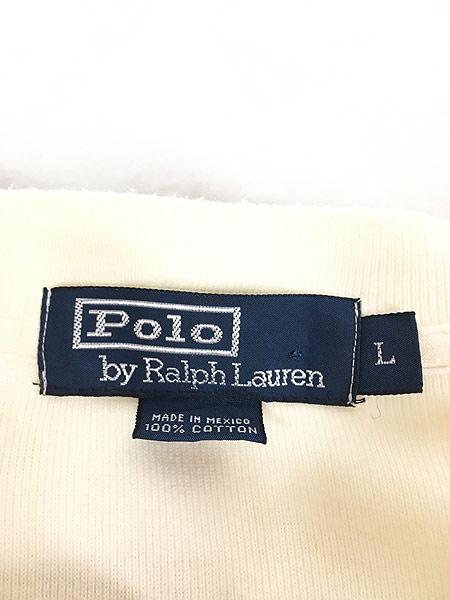 [5] 古着 POLO Ralph Lauren カジキ フィッシング 刺しゅう ヘンリーネック サーマル シャツ トップス L 古着