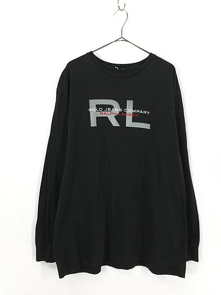 [1] 古着 POLO JEANS Ralph Lauren BIG ロゴ ロングスリーブ Tシャツ ロンT XL位 古着