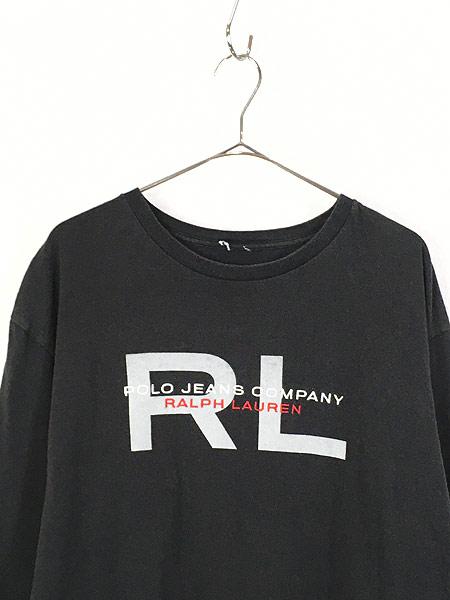 [2] 古着 POLO JEANS Ralph Lauren BIG ロゴ ロングスリーブ Tシャツ ロンT XL位 古着
